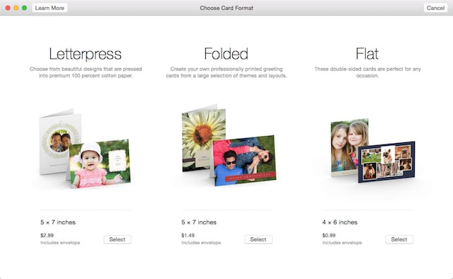 Create cards in Photos