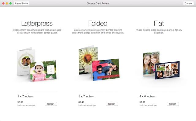 Create cards in Photos