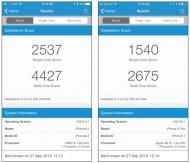 iPhone 6s Plus/iPhone 6 Plus Benchmark Comparison