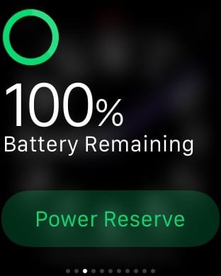 Battery remaining on an Apple Watch