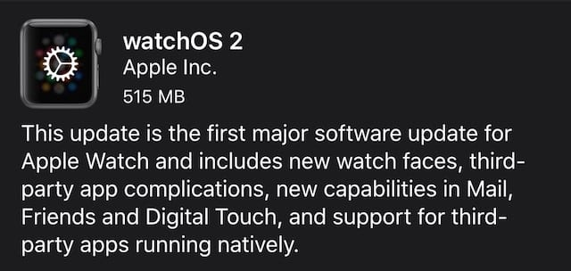 watchOS 2 arrives