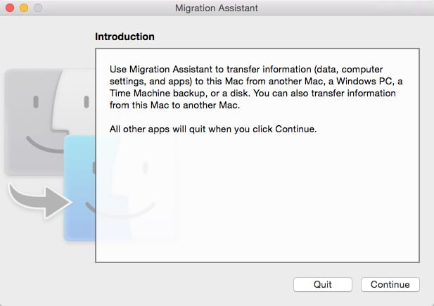 Migration Assistant Launch Screen