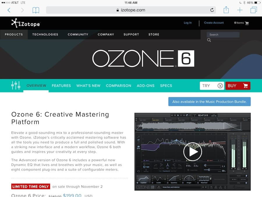 OZONE Mastering app pic