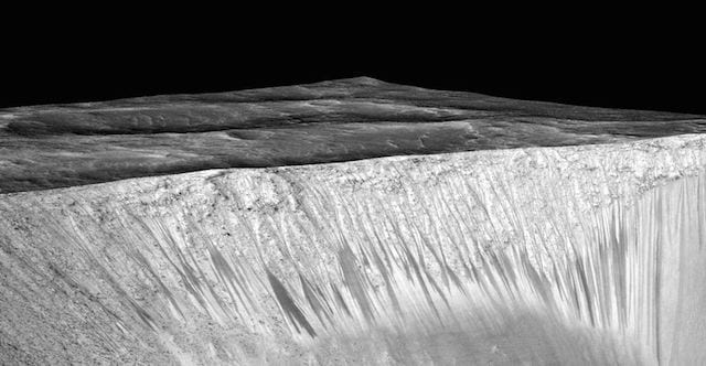 Recurring Slope Linae on Martian surface