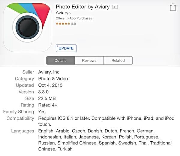 Aviary at App store