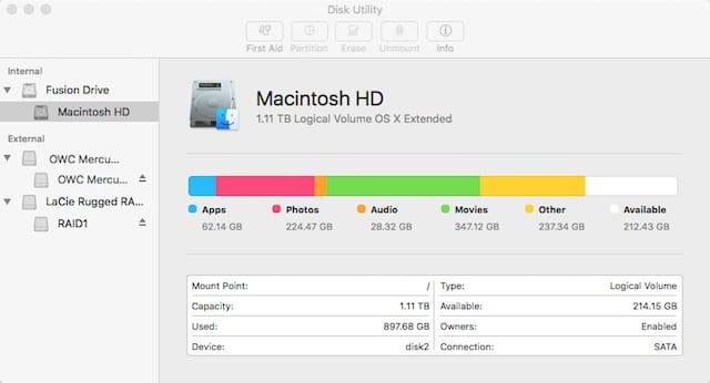 El Capitan's Disk Utility