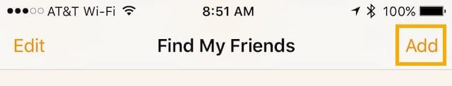 Add a friend to Find My Friends