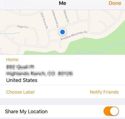 Hide your location