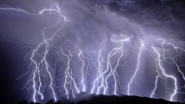 Lightning, very very frightening