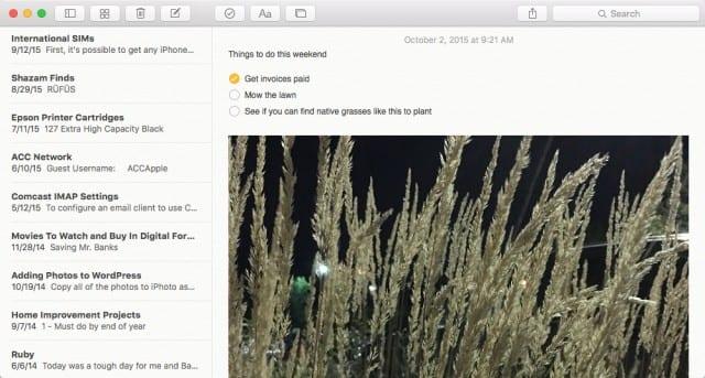 OS X El Capitan Notes