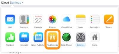 iCloud.com Find My Friends