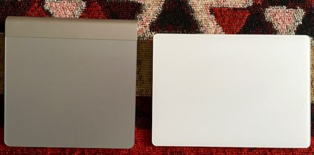 Magic Trackpad (left), new Magic Trackpad 2 (right)