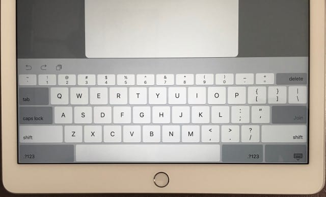 The new and improved virtual keyboard on the iPad Pro