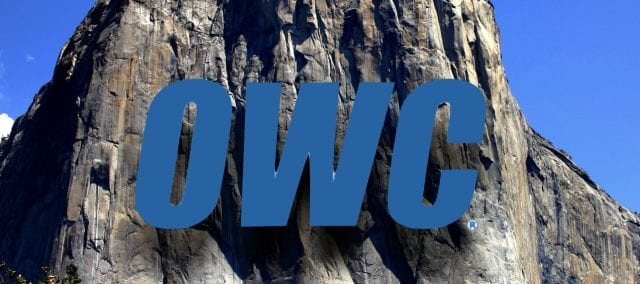 The floating OWC logo in Yosemite National Park