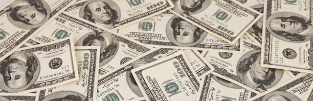 A pile of $100 bills