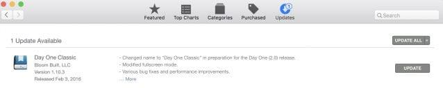 Update in the Mac App Store