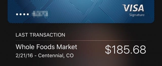 Last transaction info in Apple Pay