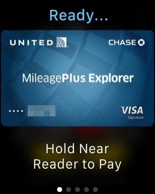 Apple Pay on an Apple Watch