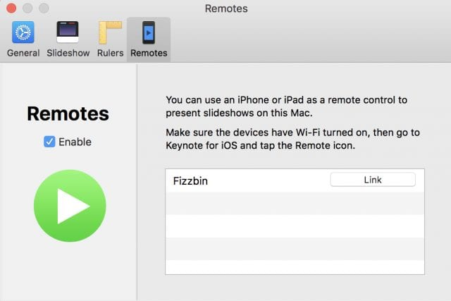 Mac preferences, setting up iOS remote