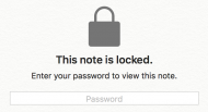 The password field in Mac OS X Notes