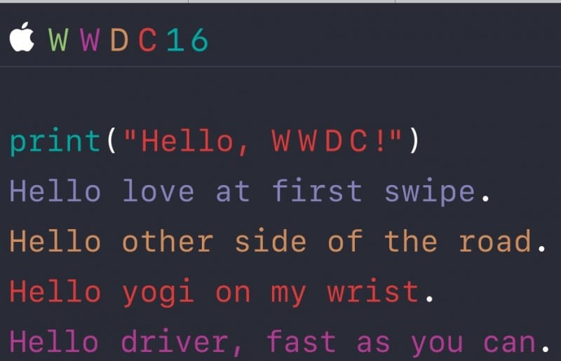 WWDC 2016 Invitation via Apple.com