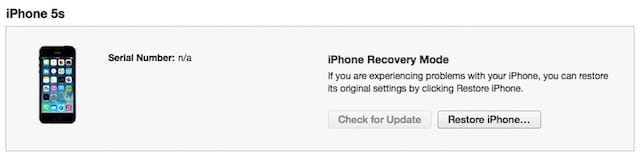 Click the Restore iPhone... (or iPad...) button to begin restoring to an older version.