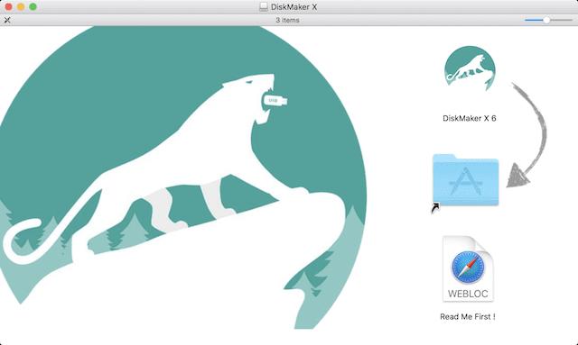 DiskMaker X 6 Installer Screen
