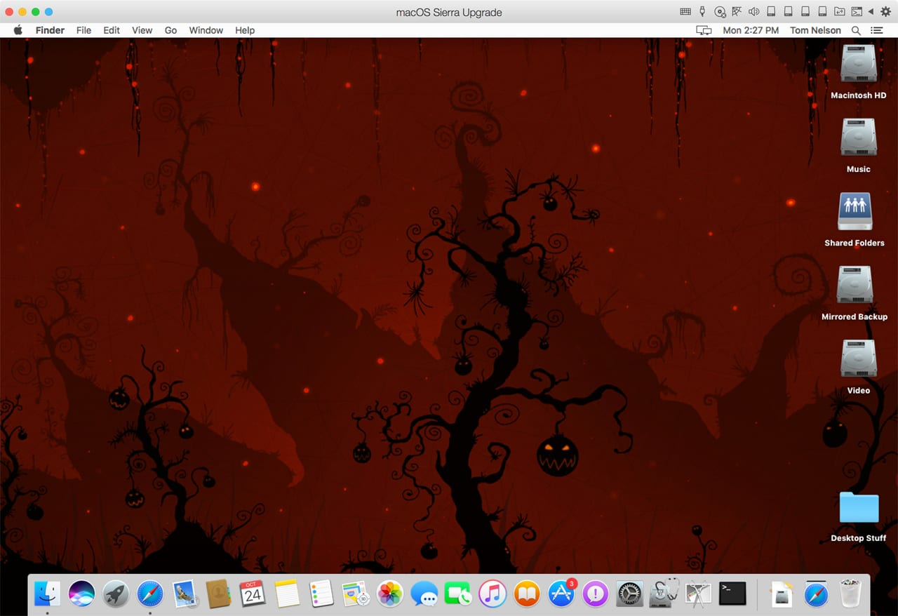 (The desktop should be the only scary part of your Mac: Desktop wallpaper courtesy of vladstudio.)