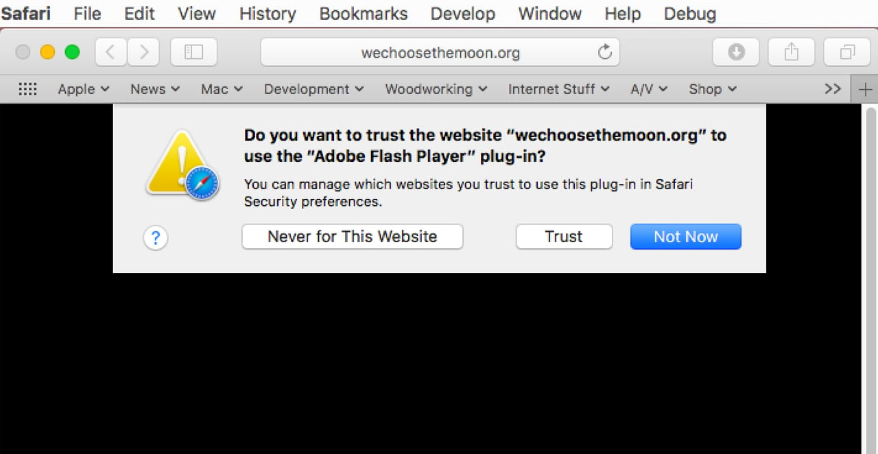 (Flash, as well as other plug-ins, can be enabled on a site-by-site basis.)