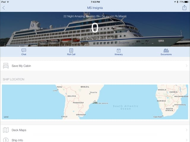 Cruise Ship Mate App