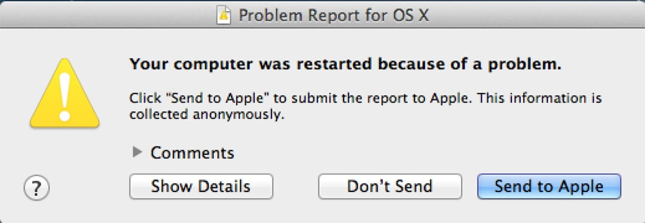 (You can view the panic report, which includes details about the kernel panic.)