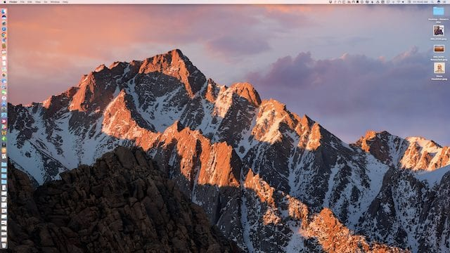 The macOS dock on the left side of the display