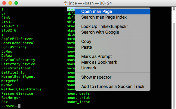 Quick Tip: View All Mac OS Terminal Commands and What They Do