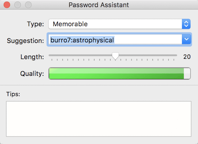 The Password Assistant in Keychain Access