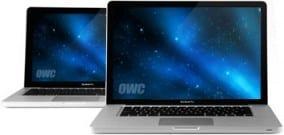 Macbook Pro with OWC logo