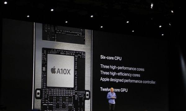 A10X SoC, image from Apple WWDC 2017 keynote on 6/5/17