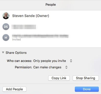 Sharing iCloud Drive files with others