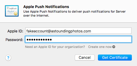 Enabling push notification through Apple's Push Notification service