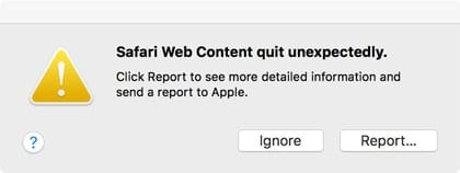 Misbehaving websites or Safari add-ons can lead to this error message