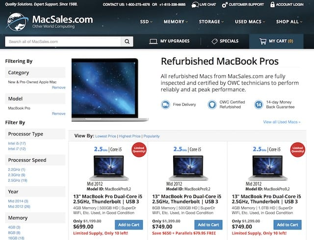 Used MacBook Pros for as little as $699? Sign me up!