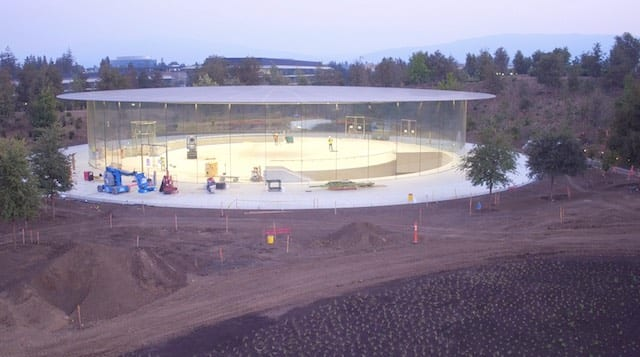 The Steve Jobs Theater at Apple Park (photo via Duncan Sinfield)