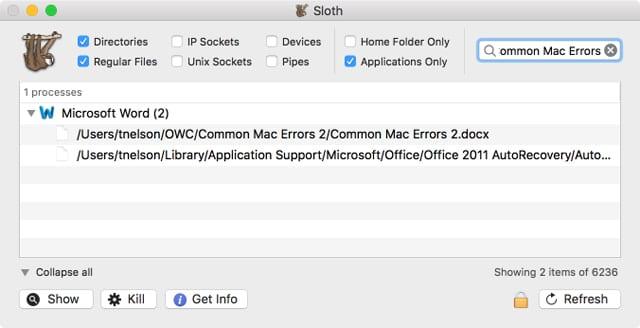 Apple mac error message