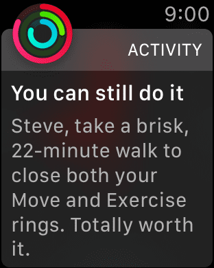 9 PM, and my Watch is pushing me to close my rings...