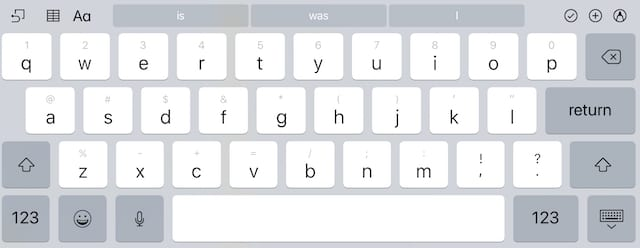 QuickType Keyboard