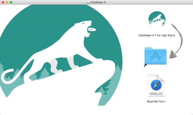 DiskMaker X 7 Installer Screen