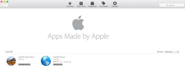 High Sierra Installer in the Mac App Store