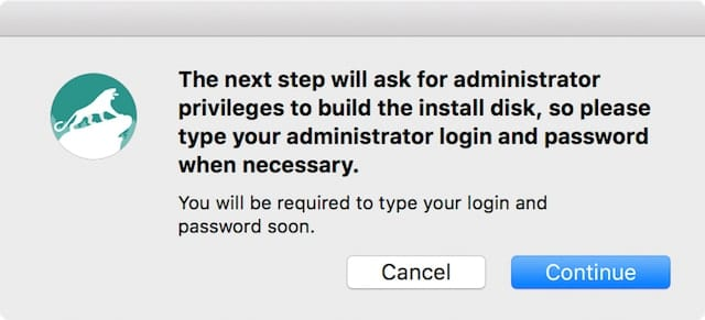 You'll need your admin user name and password to create the disk