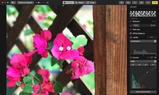 The new Photos advanced editing tools