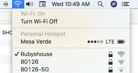 Checking the name of the Wi-Fi network and ensuring Wi-Fi is turned on