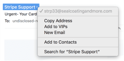 This is NOT from Stripe